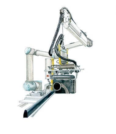 Aquarelle du robot COBOT++
