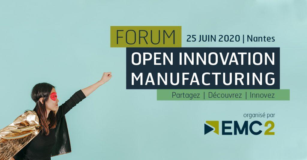 Bandeau du Forum Open Innovation Manufacturing
