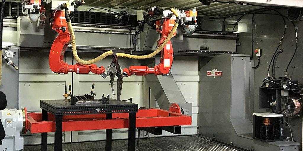 Photo du système robotique deux axes développé par Valk Welding et AutoDesk