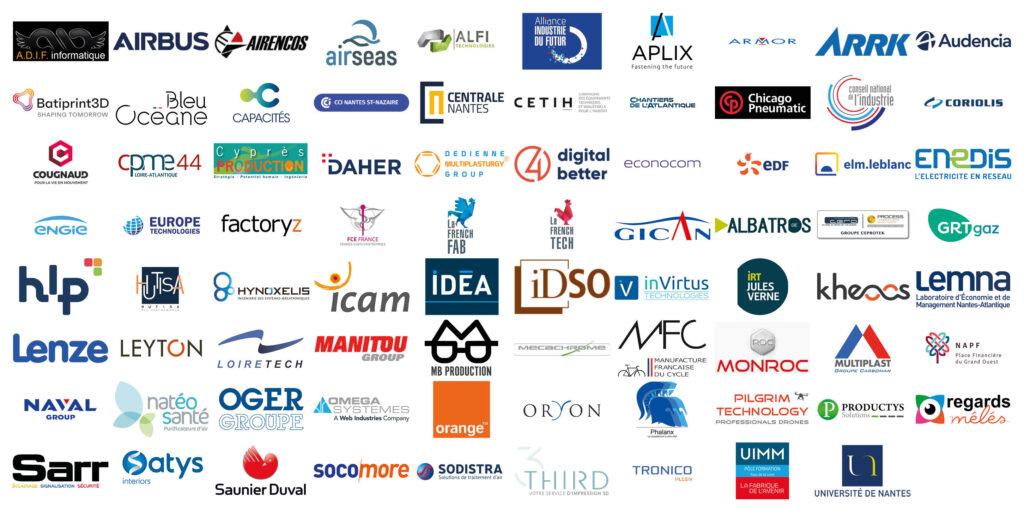 Logos des 79 signataires du Manifeste pour une industrie éco-responsable