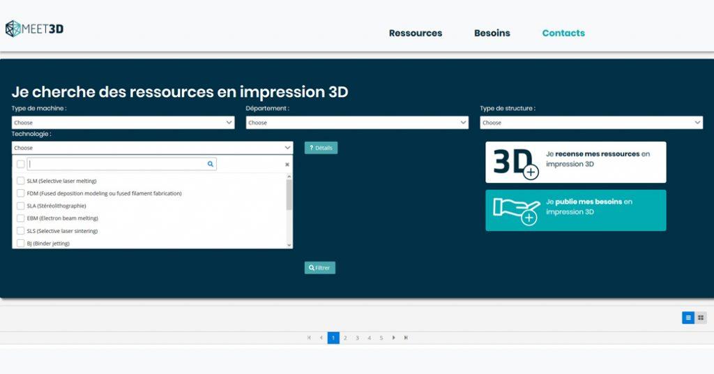 Site internet Meet3D
