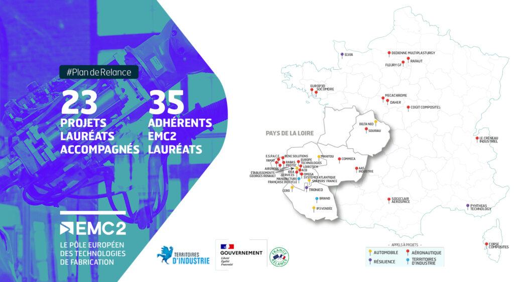 Plan de relance : 23 projets lauréats accompagnés par l'équipe du Pôle EMC2