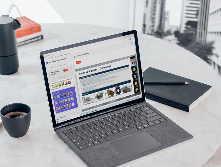 Capture d'écran du webinaire Forum Open Innovation