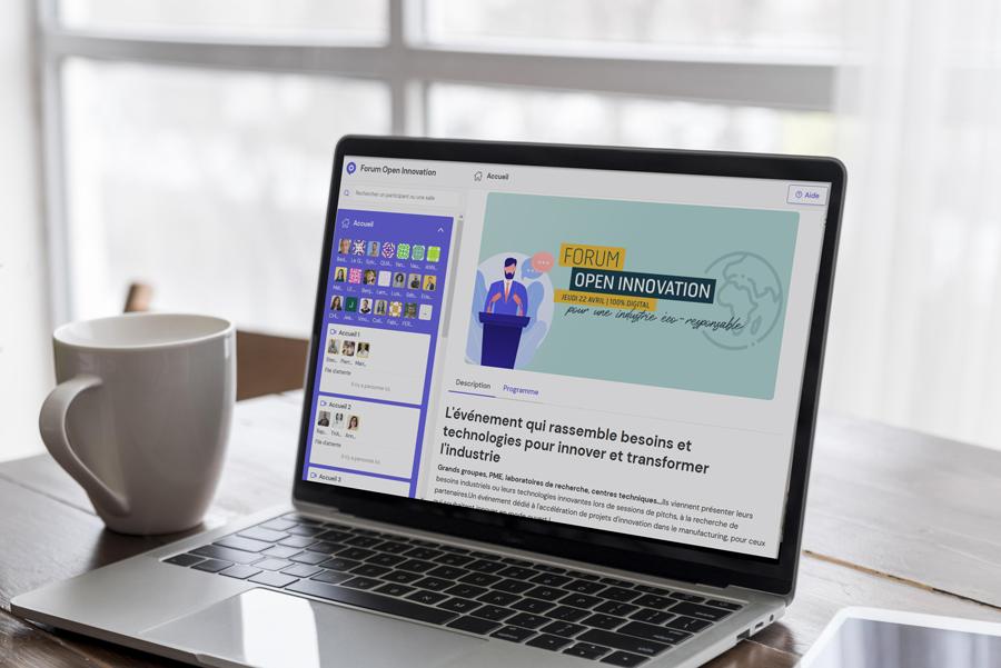 Capture d'écran de l'événement digital Forum Open Innovation 2021